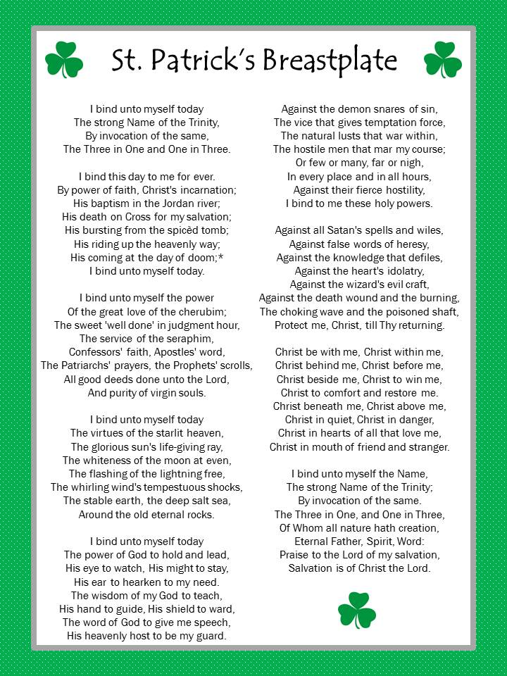 Saint Patrick's Breastplate