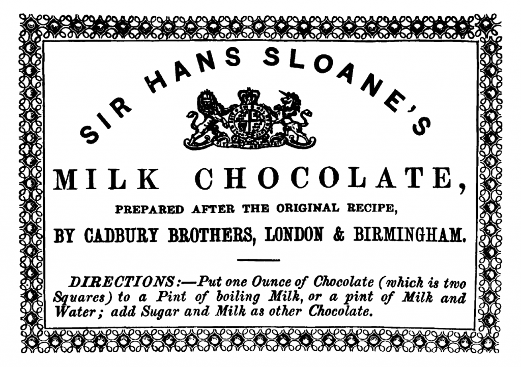 Sir Hans Sloane Milk Chocolate
