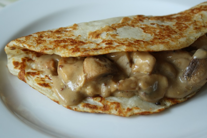 Guinness Crepes with Mushrooms