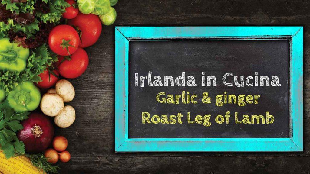 Garlic-ginger Roast Leg of Lamb
